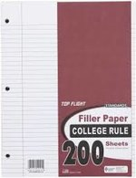 PAPER FILLER 200 COUNT COLLEGE RULED