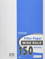 FILLER PAPER WIDE RULED 150CT 10.5X8