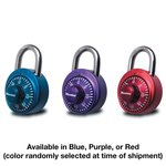 MASTER LOCK-Black, Red, Purple, Blue